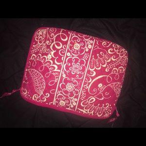 Twirly birds pink laptop sleeve